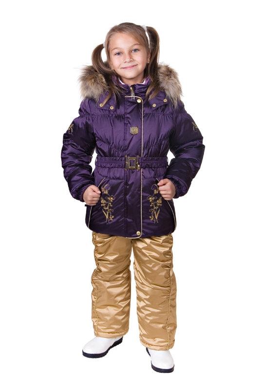 Керри зимние куртки с натуральным мехом для девочек